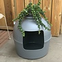 RHRQuality Flower XXL Cat Litter Box Grey