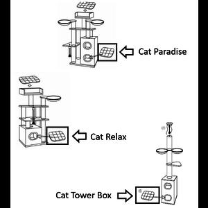 RHRQuality Cushion - Scratching Barrel 55x45 Cat Paradise/Tower Box/Cat Relax Light Grey