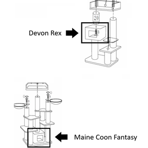 RHRQuality Cushion - Playhome Devon Rex/Maine Coon Fantasy Dark Grey