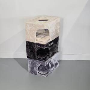 RHRQuality Playhome - Catdream de Luxe Light Grey + Cushion