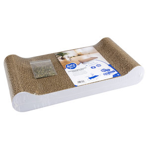 DUVO+ Cardboard Scratching Board Sophie Sofa White (With catnip)