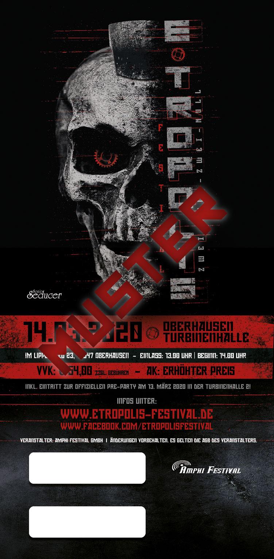 5+1 TICKET - E-TROPOLIS FESTIVAL 2020