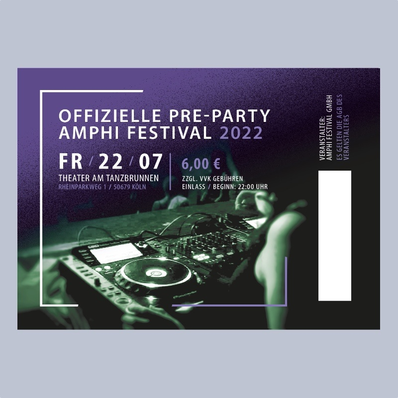 PRE-PARTY - AMPHI FESTIVAL 2022