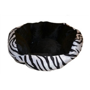 CATS BASKET VELVET LOOK ZEBRA 38X36X18 CM