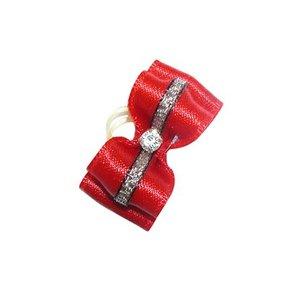 Show Tech Strikje Handgemaakt met Diamant Medium Rood - Zilver