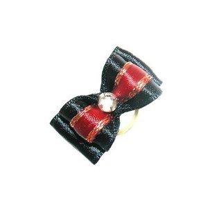 Show Tech Strikje Handgemaakt met Diamant Medium Zwart - Rood