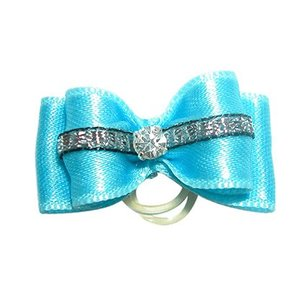 Show Tech Strikje Handgemaakt met Diamant Medium Blauw - Zilver