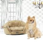 Pretty Pet Pretty Pet Velvet Round Couch Bed, Beige