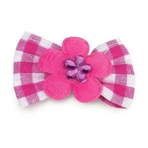 Aria Bow with pink badge