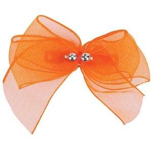Aria Aria Chiffon Party Dog Bows - Orange