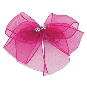 Aria Aria Chiffon Party Dog Bows - Magenta