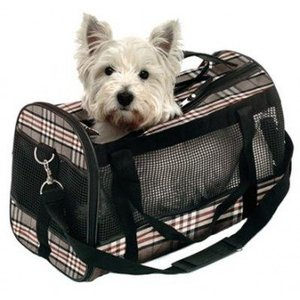 Karlie Karlie nylon travel bag old english style beige diamond