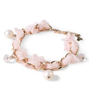 Crystal Snowdancers Shirley Pink Necklace