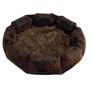 Happy House Leather Fur basket Happy House
