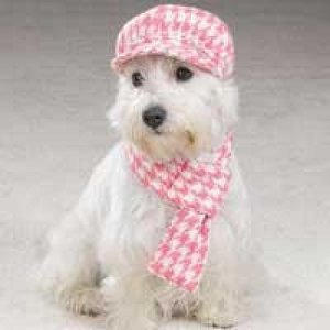 Cap and Scarf Pink