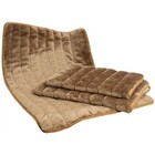 Lounger PLUSH BROWN 87X58 CM