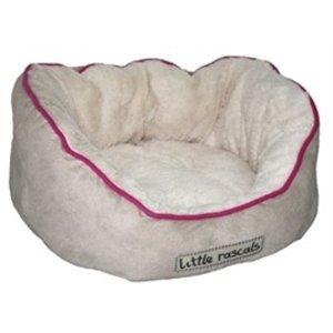 LITTLE RASCALS LITTLE RASCALS NIGHT NIGHT OVAAL BED BEIGE ROZE BI 40X38X20 CM
