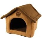 PETCOMFORT DOGS / CATS HOUSE BROWN 40x40x40 CM