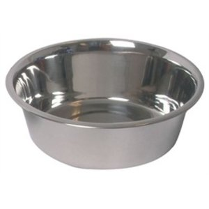 Bowl for dogs, made of stainless steel (SS). Mangers of stainless steel can be quickly and thoroughly cleaned. They may also in the dishwasher
