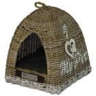 Happy House Wicker Tent with heart