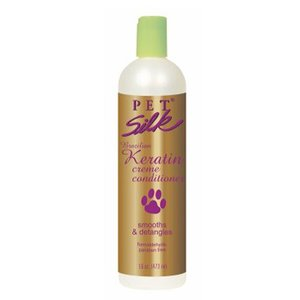 PetSilk Pet Silk Brazilian Keratin 473 ml Creme Conditioner Voor Honden, Katten En Paarden