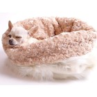 Susan Lanci Design Susan Lanci Cuddle Cup Cream Fox with Camel Curley Sue Large