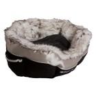 Happy House Cat Lifestyle basket Black S - 46 x 46 x 21 cm