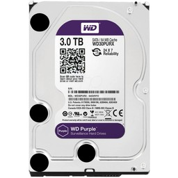 "WD Western Digital WD30PURX 3TB 3.5"" Internal Hard Drive - SATA - 64 MB Buffer"