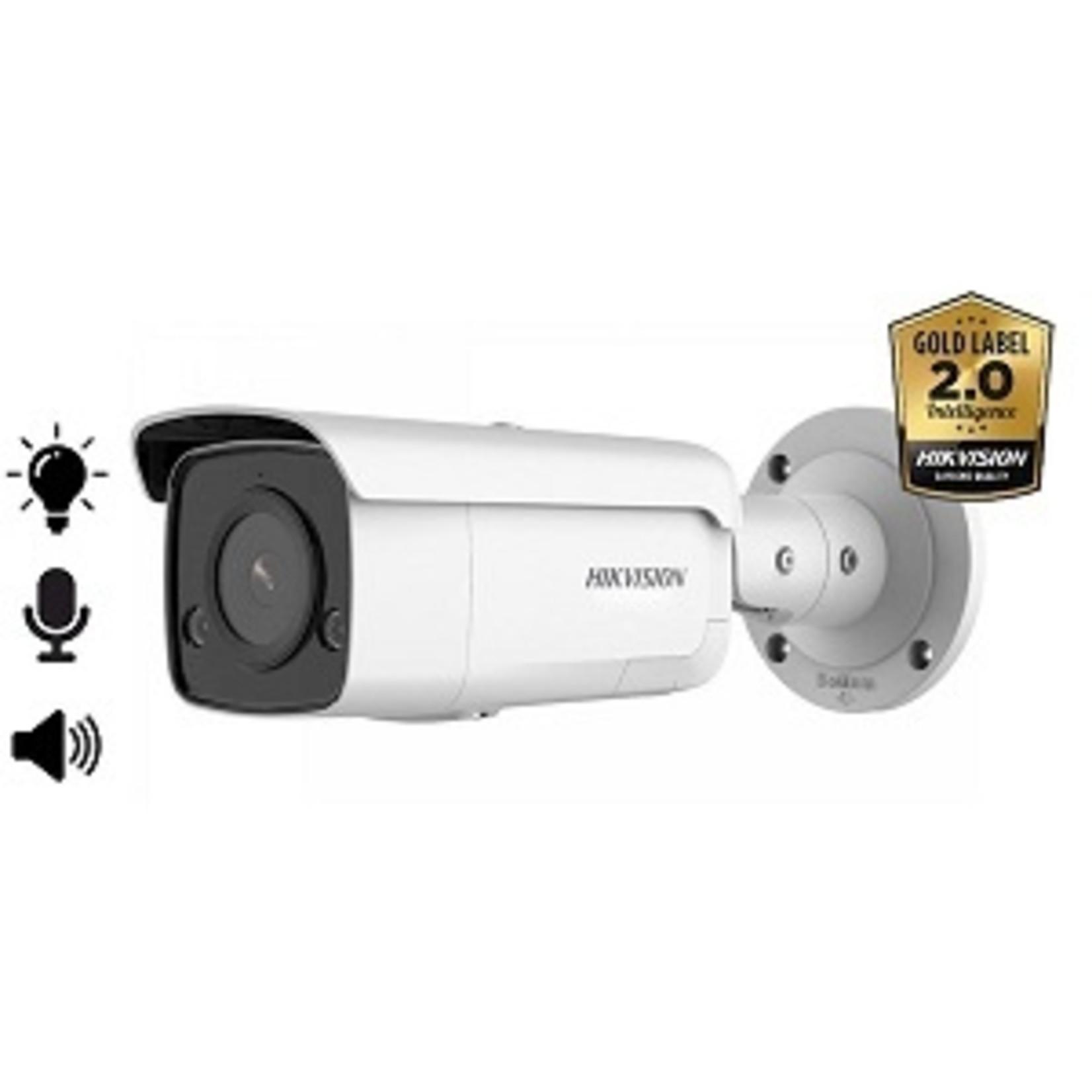 Hikvision DS-2CD2T86G2-ISU/SL, 8MP,  microfoon en speaker, strobe light, 60m IR