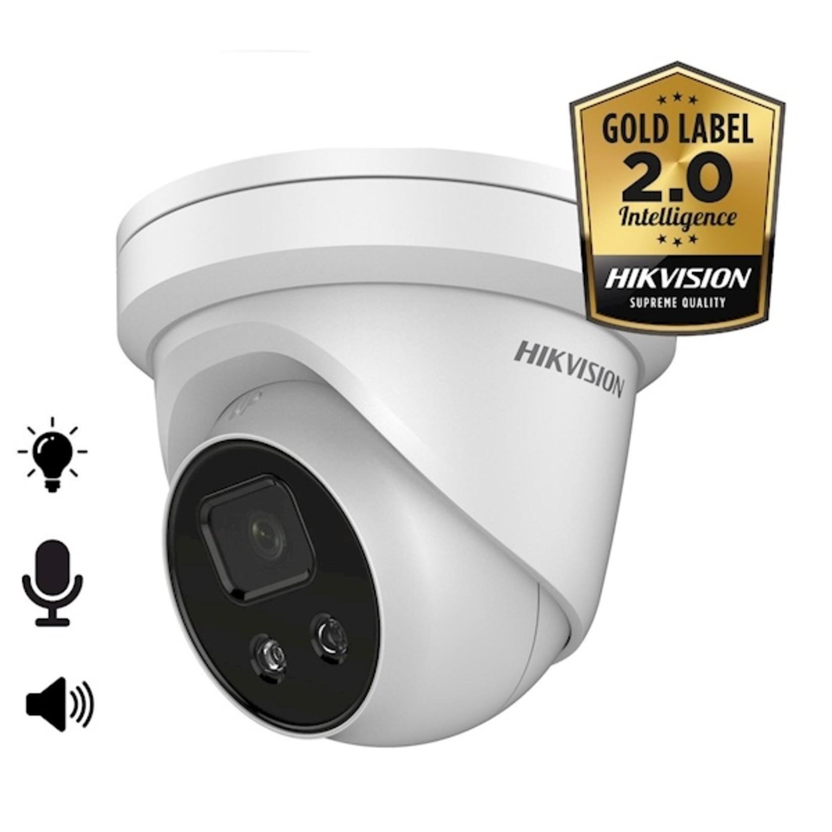 Hikvision DS-2CD2386G2-ISU/SL, 8MP, microfoon en speaker, strobe light, 30m IR, WDR