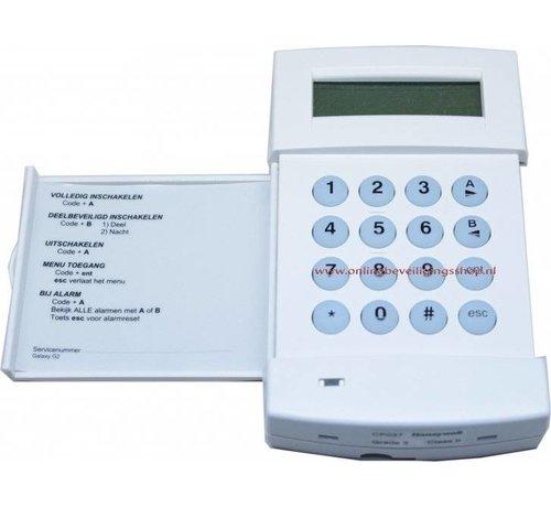 Honeywell Onlinebeveiligingsshop Codebediendeel Galaxy MK7 LCD
