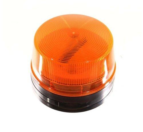 OBS Flitser kleur oranje afm. diameter 50 mm hoogte 43 mm.