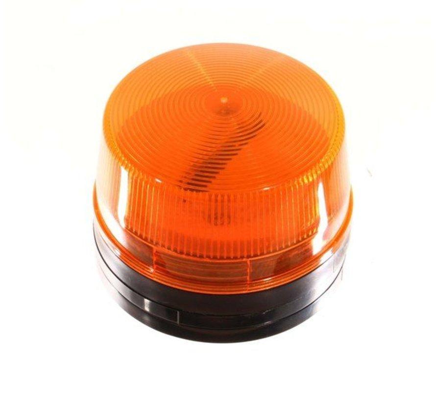 Flitser kleur oranje afm. diameter 50 mm hoogte 43 mm.