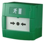 Notifier Handbrandmelder groen met wisselcontact