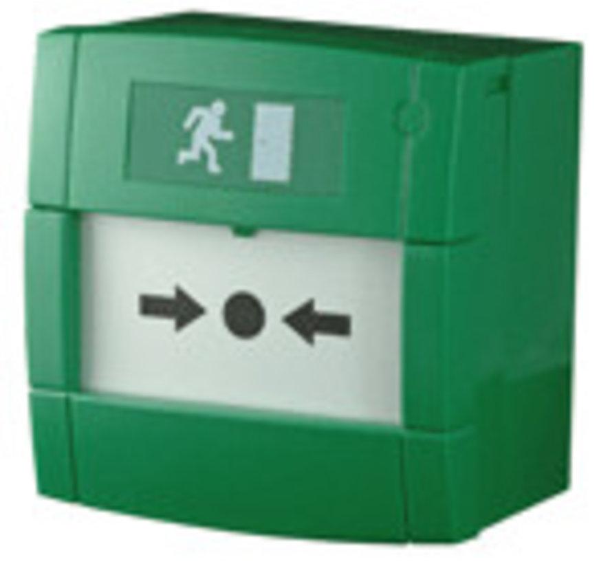 Handbrandmelder groen met wisselcontact