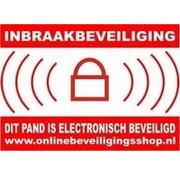 OBS Waarschuwingssticker alarm voor buitenzijde