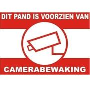 OBS Waarschuwingssticker Camerabewaking voor binnenzijde