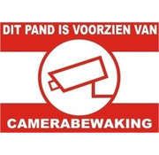 OBS Waarschuwingssticker Camerabewaking voor buiten