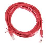 OBS Datakabel RJ45 netwerkkabel CAT5e 3m rood