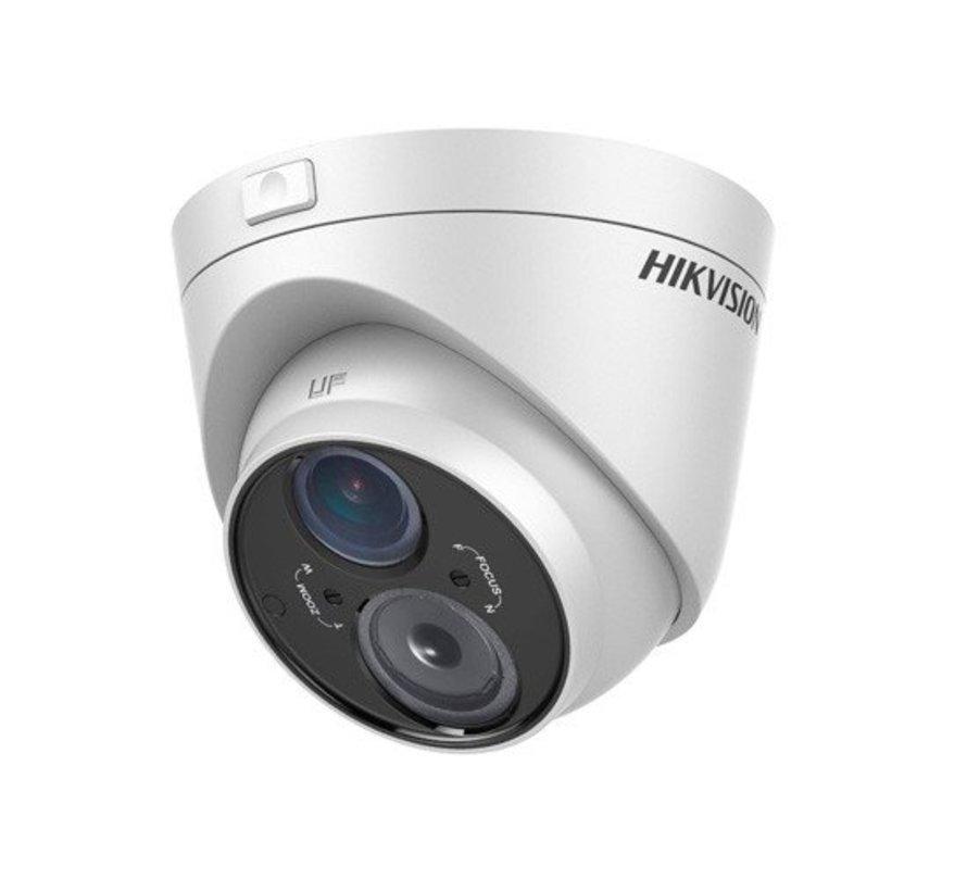 DS-2CE56D5T-VFIT3 2,8-12mm full HD TVI buitencamera met 2,8 mm lens.