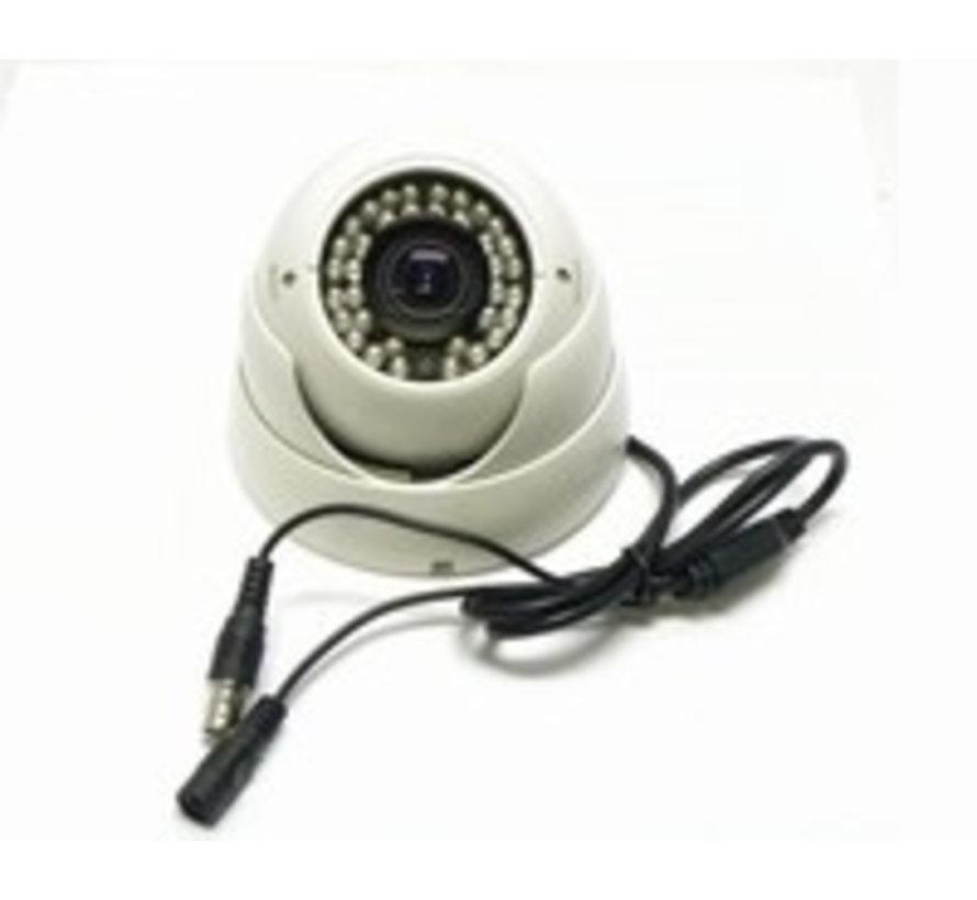 Beveiligingscamera IR Dome Sony 700TVL 2.8-12mm wit
