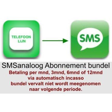 SMSanaloog abonnement voor een betaal periode van 1, 3 , 6 of 12 maanden met automatische verlenging via automatisch incasso