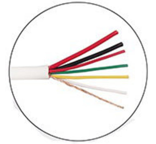 OBS 100 meter Alarm kabel 2x0,75+4x0,22m afgeschermd soepel in