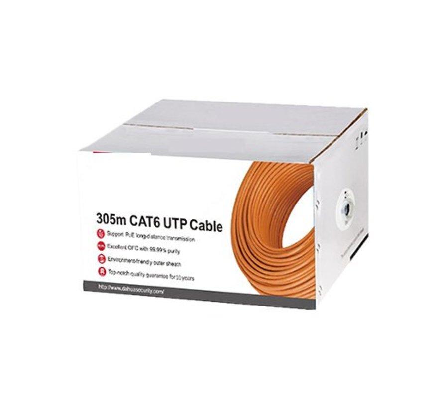 UTP kabel Cat6 koper kleur oranje per meter