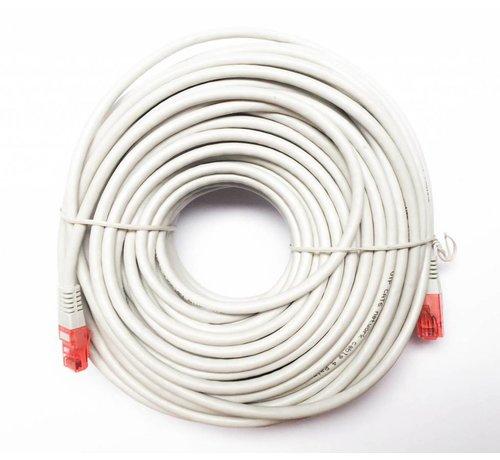 OBS UTP kabel CAT6 met lengte van 30meter kleur grijs