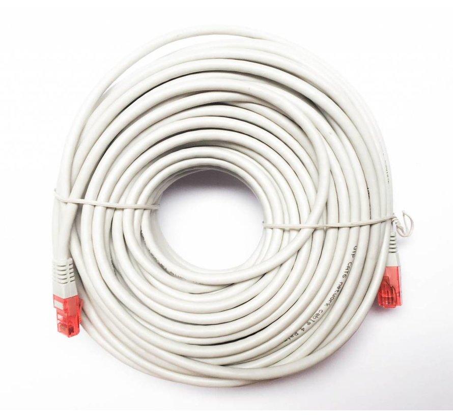 UTP kabel CAT6 met lengte van 30meter kleur grijs