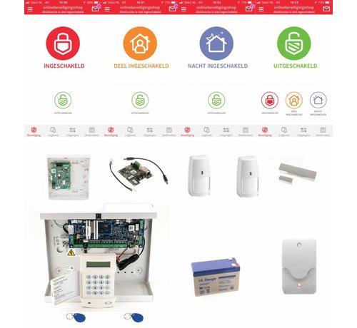 Honeywell Alarmsysteem Galaxy Flex3-20 SK MK7 Prox IP draadloos pakket