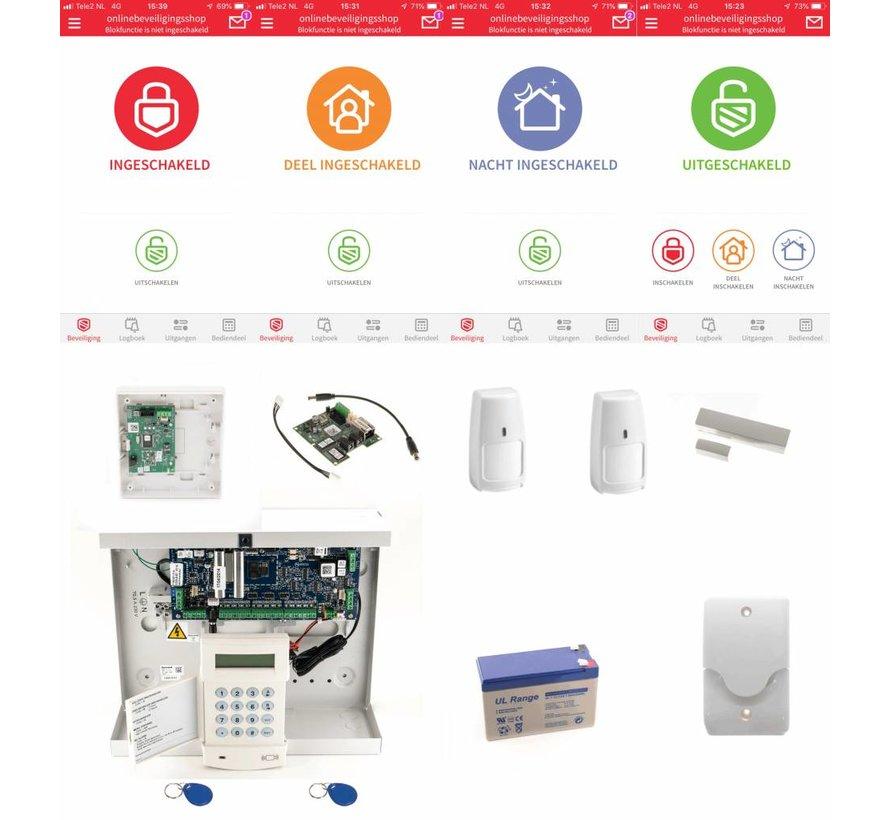 Alarmsysteem Galaxy Flex3-20 SK MK7 Prox IP draadloos pakket
