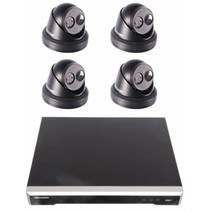 Hikvision darkfighter pakket NVR 8POE en 4 x IP camera kleur zwart