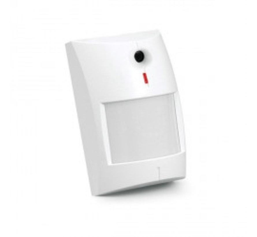 Dual technologie PIR 12x6,5m + glasbreuk detector tot 6mDual melder PIR combinatie met glasbreuk
